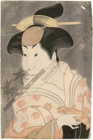 Toshusai Sharaku: Iwai Hanshiro as nurse Shigenoi (title not original) - Austrian Museum of Applied Arts