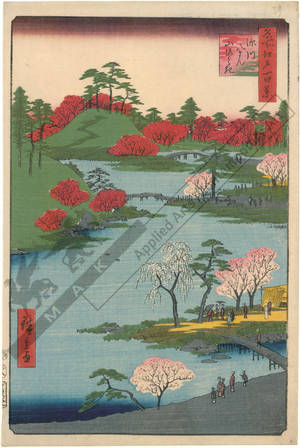 Utagawa Hiroshige: Opening of the hill at the Hachiman Shrine in Fukagawa - Austrian Museum of Applied Arts