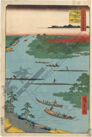 歌川広重: Mouth of the Naka river - Austrian Museum of Applied Arts
