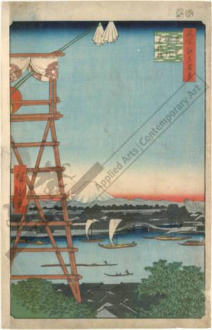 Utagawa Hiroshige: Eko temple at Ryogoku and Motoyanagi bridge - Austrian Museum of Applied Arts