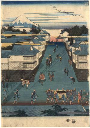歌川広重: General view of Kasumigaseki - Austrian Museum of Applied Arts
