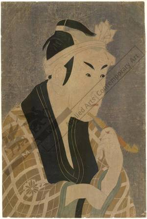 Toshusai Sharaku: Matsumoto Koshiro as Gorobei (title not original) - Austrian Museum of Applied Arts