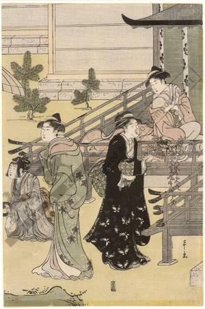 Hosoda Eishi: The visit (title not original) - Austrian Museum of Applied Arts