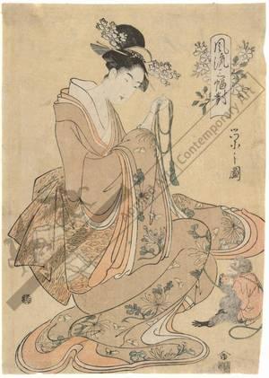 細田栄之: Sotorihime (title not original) - Austrian Museum of Applied Arts