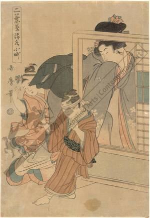 Kitagawa Utamaro: Komachi at Kiyomizu temple - Austrian Museum of Applied Arts