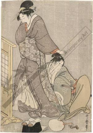 喜多川歌麿: Beauty with young man (title not original) - Austrian Museum of Applied Arts