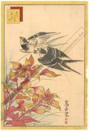 Nakayama Sugakudo: Swallows and Safflower - Austrian Museum of Applied Arts