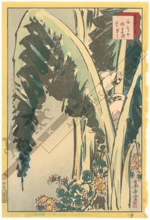 Nakayama Sugakudo: Sparrow and withered banana-tree - Austrian Museum of Applied Arts