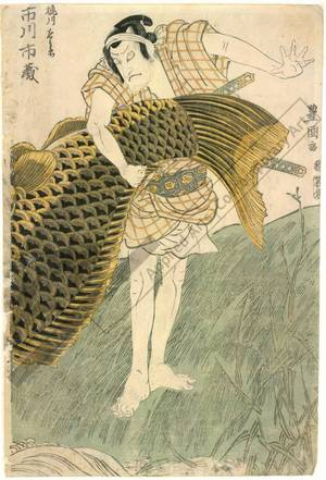Utagawa Toyokuni I: Ichikawa Ichizo as Kajikawa Chobei - Austrian Museum of Applied Arts