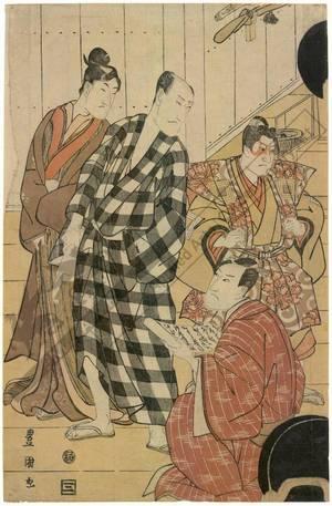 Utagawa Toyokuni I: Third floor of a theatre in Edo - Austrian Museum of Applied Arts