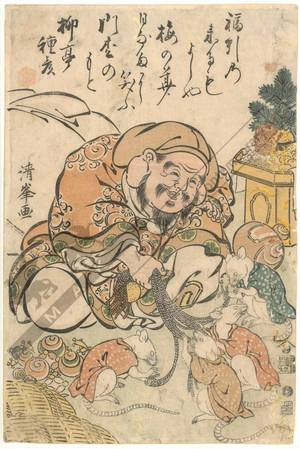 二代目鳥居清満: Lucky god Daikoku (title not original) - Austrian Museum of Applied Arts