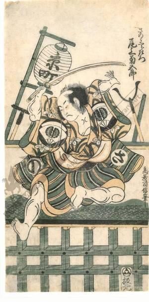 Torii Kiyonobu II: Onoe Kikugoro as Sano no Jirozaemon - Austrian Museum of Applied Arts