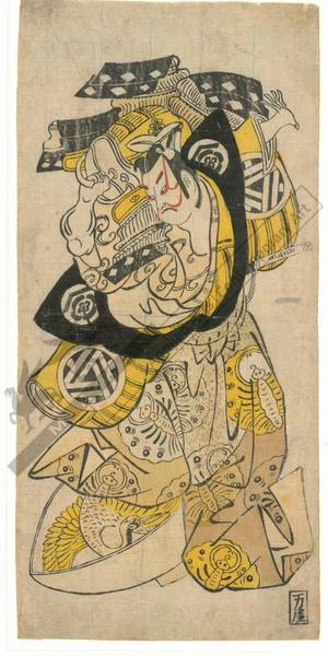 Torii Kiyonobu II: Actor Ogino Isaburo (title not original) - Austrian Museum of Applied Arts