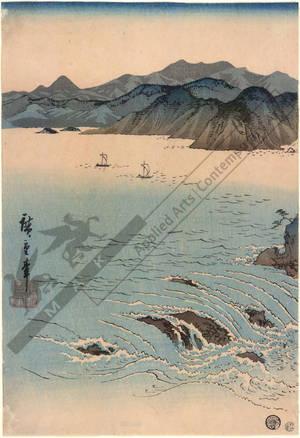 Utagawa Hiroshige: View of Naruto Strait in Awa - Austrian Museum of Applied Arts
