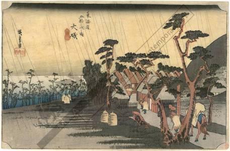 歌川広重: Oiso: Tora's rain (station 8, print 9) - Austrian Museum of Applied Arts