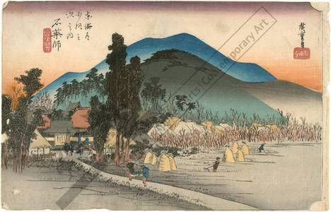 Utagawa Hiroshige: Ishiyakushi: The temple of Ishiyakushi (station 44, print 45) - Austrian Museum of Applied Arts