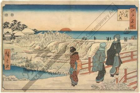 歌川広重: First sunrise at Suzaki - Austrian Museum of Applied Arts