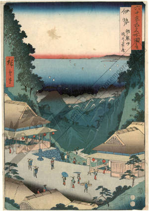 Utagawa Hiroshige: Province of Ise: Asama Hills and Tea-House on the Pass - Austrian Museum of Applied Arts