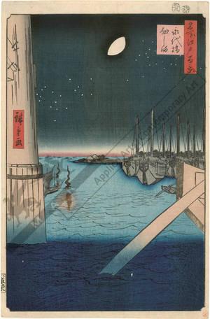歌川広重: Eitai bridge and Tsukuda island - Austrian Museum of Applied Arts