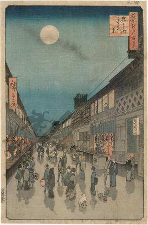 Utagawa Hiroshige: Night view of the Saruwaka district - Austrian Museum of Applied Arts