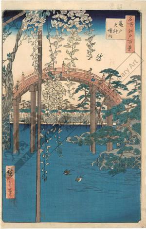 歌川広重: Compound of the Tenjin Shrine at Kameido - Austrian Museum of Applied Arts