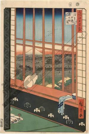 歌川広重: Asakusa ricefields and the Torinomachi festival - Austrian Museum of Applied Arts
