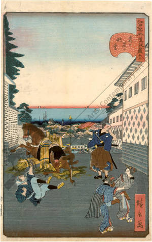 Utagawa Hirokage: Number 15: The view from Kasumigaseki - Austrian Museum of Applied Arts