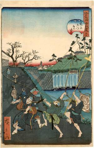 Utagawa Hirokage: Number 29: The Tiger gate - Austrian Museum of Applied Arts