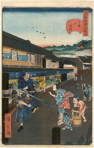 Utagawa Hirokage: Number 11: Road at Shitaya Onari - Austrian Museum of Applied Arts