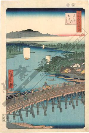 Utagawa Hiroshige: Great bridge at Senju - Austrian Museum of Applied Arts