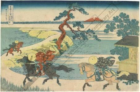 Katsushika Hokusai: Village Sekiya beside the Sumida river - Austrian Museum of Applied Arts