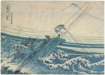 Katsushika Hokusai: Kajikazawa in the province of Kai - Austrian Museum of Applied Arts