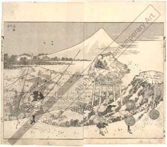 Katsushika Hokusai: Mount Fuji in winter storm - Austrian Museum of Applied Arts