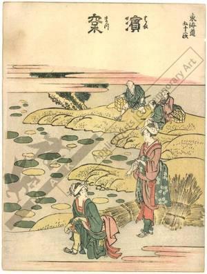 葛飾北斎: Hamamatsu (Station 29, Print 30) - Austrian Museum of Applied Arts