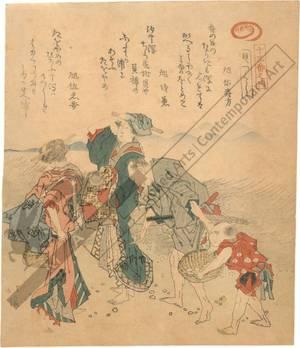 Totoya Hokkei: Gathering shells (title not original) - Austrian Museum of Applied Arts