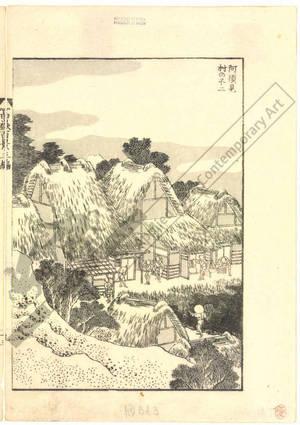 Katsushika Hokusai: Mount Fuji in the village Asumi - Austrian Museum of Applied Arts