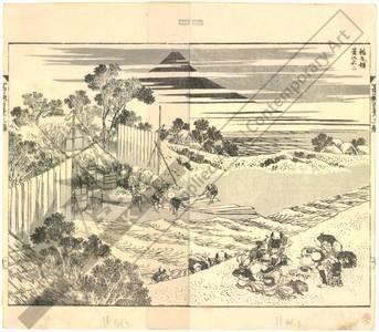 葛飾北斎: Fuji in summer seen from Inageryo - Austrian Museum of Applied Arts