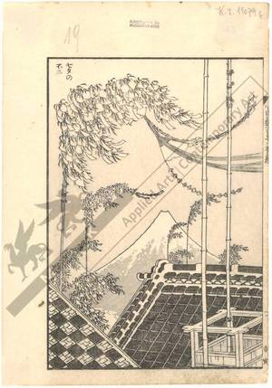 Katsushika Hokusai: Mount Fuji near Tanabata - Austrian Museum of Applied Arts