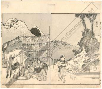 Katsushika Hokusai: Mount Fuji seen from the back - Austrian Museum of Applied Arts