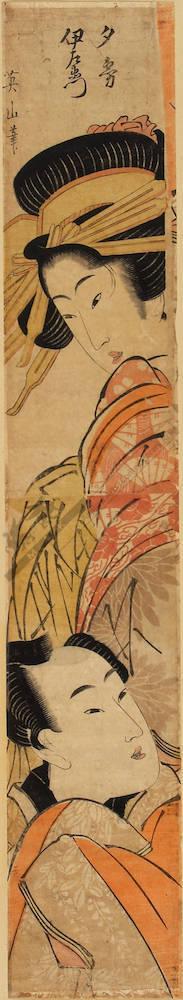 菊川英山: Yugiri and Izaemon - Austrian Museum of Applied Arts