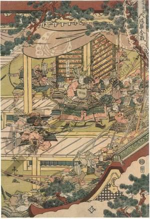 勝川春亭: Battle of Rokuhara in the Hogen/Heiji period - Austrian Museum of Applied Arts