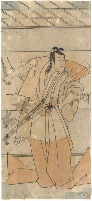 Katsukawa Shun'ei: Actor Ichikawa Omezo (title not original) - Austrian Museum of Applied Arts