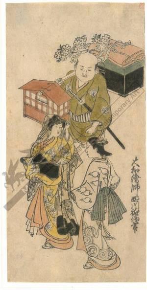 Nishikawa Sukenobu: Noble lady on an trip (title not original) - Austrian Museum of Applied Arts