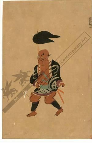 Otsu-e artist: Footman (title not original) - Austrian Museum of Applied Arts