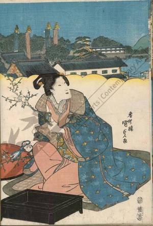 Utagawa Kunisada: Tiger-gate of the eastern capital - Austrian Museum of Applied Arts