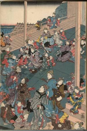 Utagawa Kuniteru: Picture of the children's musical contest - Austrian Museum of Applied Arts