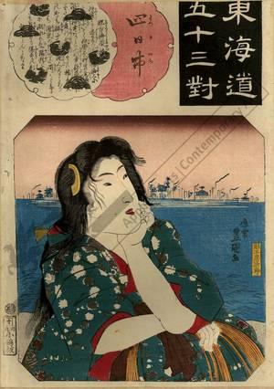 Utagawa Kunisada: Yokkaichi (Station 43, Print 44) - Austrian Museum of Applied Arts