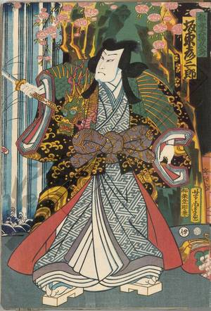 Utagawa Yoshitora: Bando Hikosaburo as Matsunaga Daizen Hisahide - Austrian Museum of Applied Arts