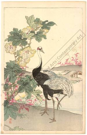 Kono Bairei: Cranes (title not original) - Austrian Museum of Applied Arts