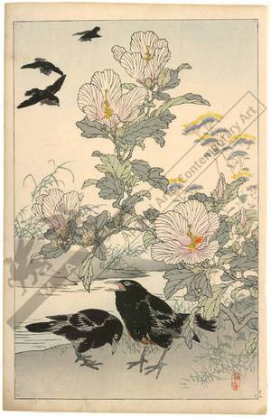Kono Bairei: Crows (title not original) - Austrian Museum of Applied Arts